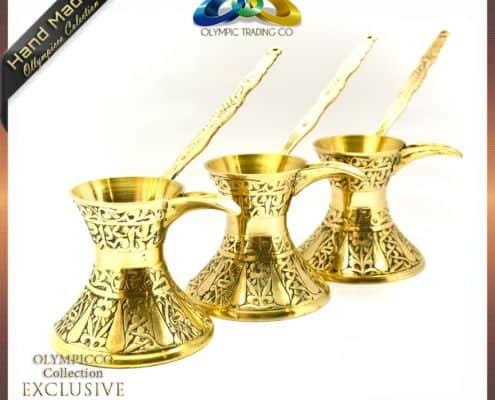 Decorative Brass Turkish Coffee Pot