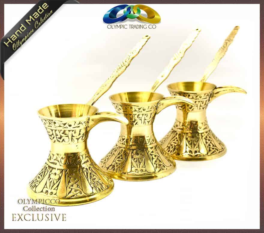 Decorative Brass Turkish Coffee Pot