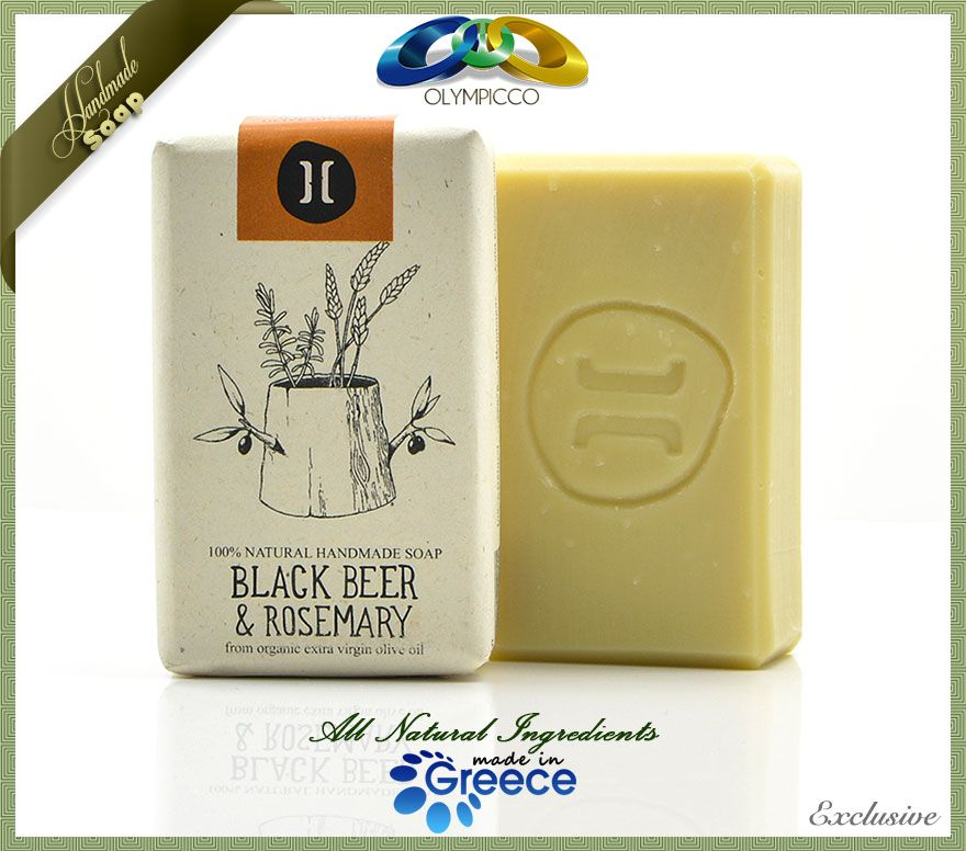Handmade Natural Organic Olive Oil Soap Beer Rosemary